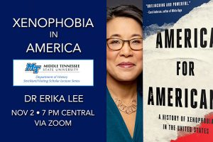 Immigration expert tackles America's xenophobia Nov. 2 in MTSU's free Strickland online lecture